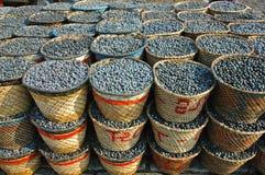 De oogst en de markt van het Fruit van Acai Royalty-vrije Stock Foto