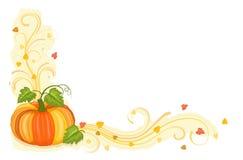 De oogst van de herfst met smakelijke pompoen stock illustratie