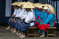 De oogstceremonie van de rijst Royalty-vrije Stock Foto