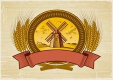 De oogstetiket van het graangewas vector illustratie