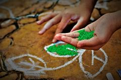 De Oogstfestival van het Pongalfestival gewijd aan de zongod Stock Foto