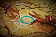 De Oogstfestival van het Pongalfestival gewijd aan de zongod Stock Fotografie