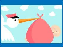 De ooievaar levert baby vector illustratie