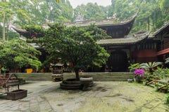 De ook gekende berg van Sichuan qingcheng stock fotografie