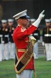 De Oorlog HerdenkingsArlington van Jima van Iwo - de Ceremonie van de Zonsondergang Royalty-vrije Stock Foto