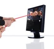 De oorlog van de monitor Stock Fotografie