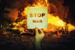 De oorlog van het einde stock foto's