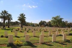 De Oorlogsbegraafplaats van biersheba Stock Fotografie