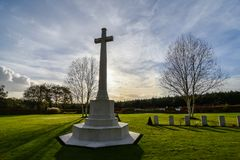 De Oorlogsbegraafplaats van de Cannockjacht stock fotografie