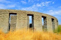De Oorlogsgedenkteken van Maryhill Concreet Stonehenge Stock Afbeeldingen
