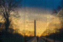 De Oorlogsgedenkteken van Vietnam Stock Afbeelding