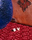 Diamond Earrings Stock Afbeelding
