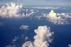 De oorsprong van Wolken stock fotografie