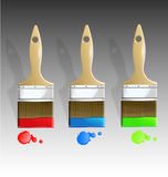 De reeks van de de borstelillustratie van de verf Stock Fotografie