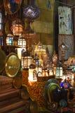 De oostelijke bazaar van Khan El-Khalili stock foto