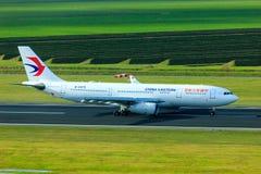 De Oostelijke Luchtbus A330 van China stock afbeelding