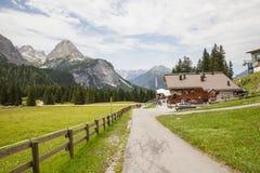 De Oostenrijkse Alpen dichtbij Ehrwald Stock Fotografie