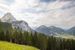 De Oostenrijkse Alpen dichtbij Ehrwald Royalty-vrije Stock Fotografie