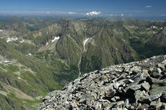 De Oostenrijkse Alpen van de zomer royalty-vrije stock fotografie