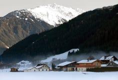 De Oostenrijkse Scène van de Winter Stock Afbeeldingen