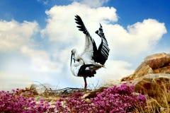 De Oosterse Witte Ooievaar Royalty-vrije Stock Foto's