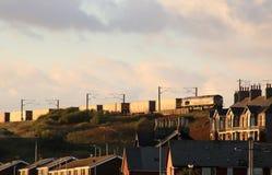 De Oostkust Hoofdlijn Tweedmouth van de containertrein royalty-vrije stock foto's