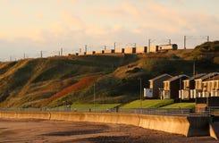 De Oostkust Hoofdlijn Tweedmouth van de containertrein stock foto
