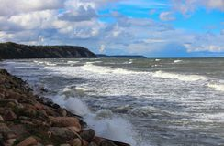 De Oostzee in de herfst Stock Afbeelding