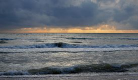 De Oostzee Jurkalne Kurzeme Letland Stock Afbeelding