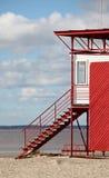 De Oostzee; Parnu, Estland Stock Foto's