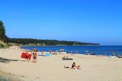 De Oostzee Strand in Kulikovo, Kaliningrad-gebied Royalty-vrije Stock Fotografie