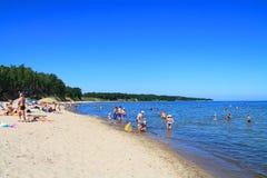De Oostzee Strand in Kulikovo, Kaliningrad-gebied Royalty-vrije Stock Foto's