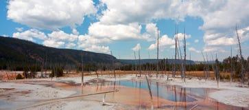 De opalen Pool hete lente in het Zwarte Bassin van de Zandgeiser in het Nationale Park van Yellowstone in Wyoming de V.S. Royalty-vrije Stock Fotografie