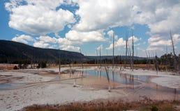 De opalen Pool hete lente in het Zwarte Bassin van de Zandgeiser in het Nationale Park van Yellowstone in Wyoming de V.S. Stock Afbeelding