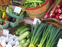 De Opbrengst van de Markt van landbouwers Stock Foto's
