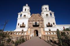 De opdracht van San Xavier del Bac in Tucson Arizona stock fotografie