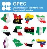 De OPEC-Landen vector illustratie