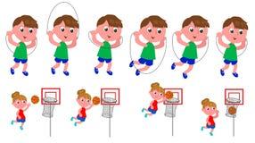 De opeenvolging van de kinderenbeweging Stock Afbeeldingen