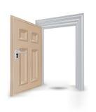 De open geïsoleerde vector van het deuropeningskader vector illustratie