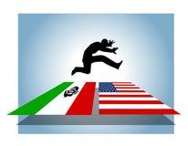 De Open Grensovergang van de onwettige Immigratie royalty-vrije illustratie