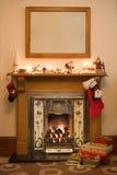 De open haard van Kerstmis Royalty-vrije Stock Foto's
