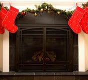 De open haard van Kerstmis Royalty-vrije Stock Fotografie