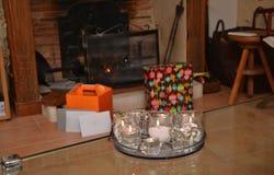 De open haard van Kerstmis stock afbeeldingen