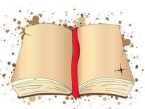 De open Illustratie van het Boek Stock Afbeeldingen