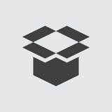 De open illustratie van het doospictogram vector illustratie