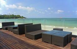 In de open lucht door het strand Royalty-vrije Stock Foto's