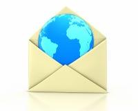 De open nieuwe aarde van de brief Stock Foto's