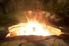 De open plaats van de baksteenbrand Royalty-vrije Stock Fotografie