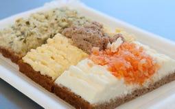 De open Sandwiches van het Gezicht Stock Fotografie