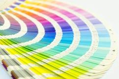 De open steekproef kleurt catalogus stock foto
